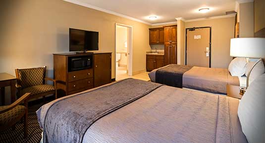 Martinez CA Hotel - flat screen TV with microwave